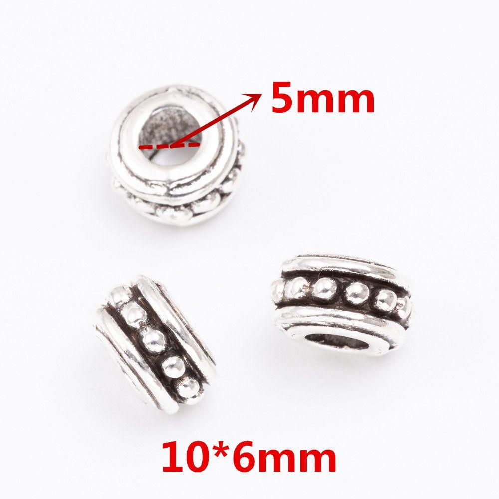 aleación de zinc por mayor de Europa del tambor perlas de gran agujero para DIY joyería de Pandora haciendo accesorios 6913