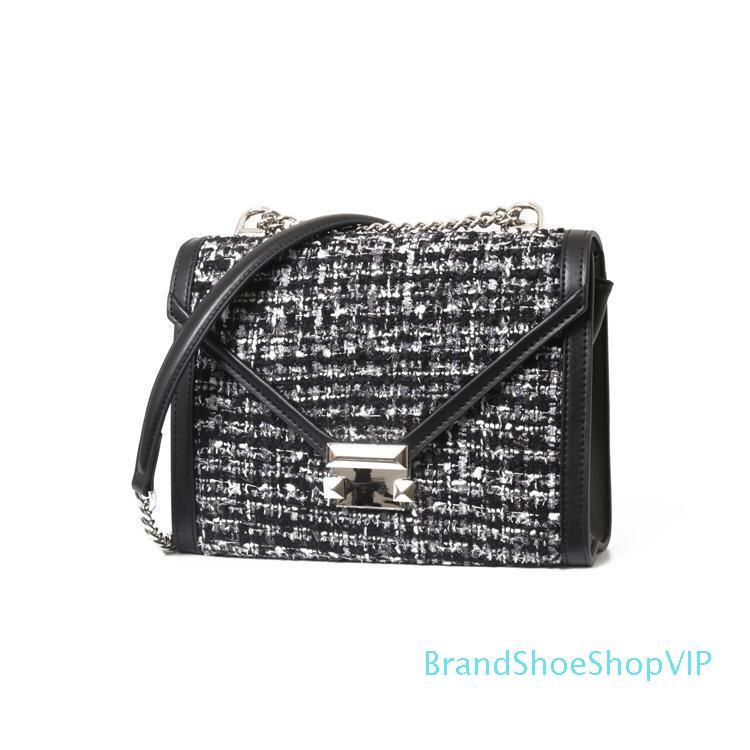 Marca del diseñador de moda de lujo para mujer bolsos bolsos del diseñador de las señoras del remache bolsa de hombro diseñadores monedero