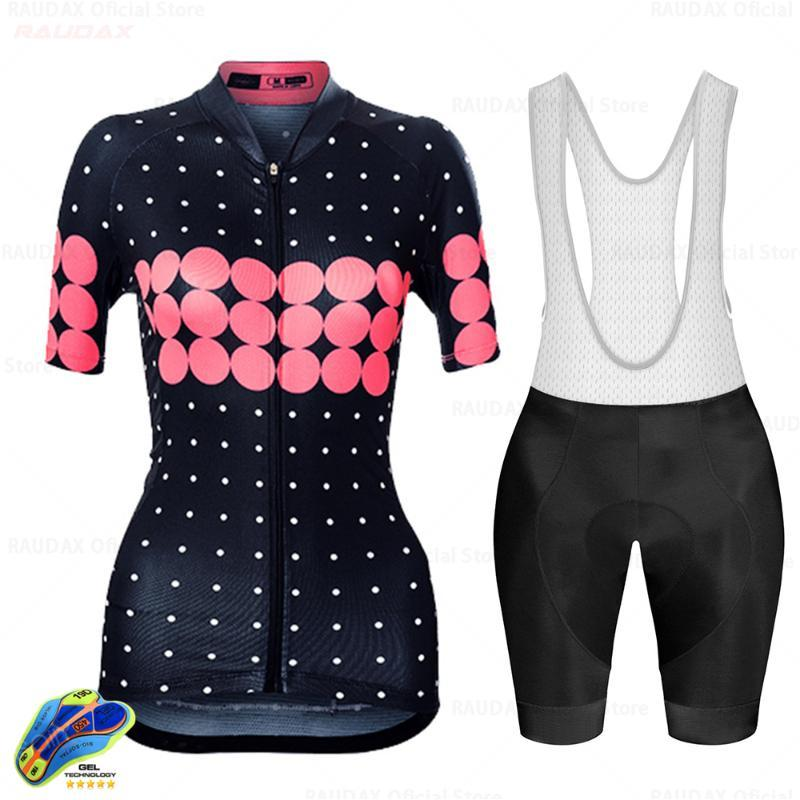 Femmes Cyclisme Vêtements Maillot vélo Set Femme VTT Ropa Ciclismo Raudax Fille Cycle Casual Wear Route Cuissard Raudax