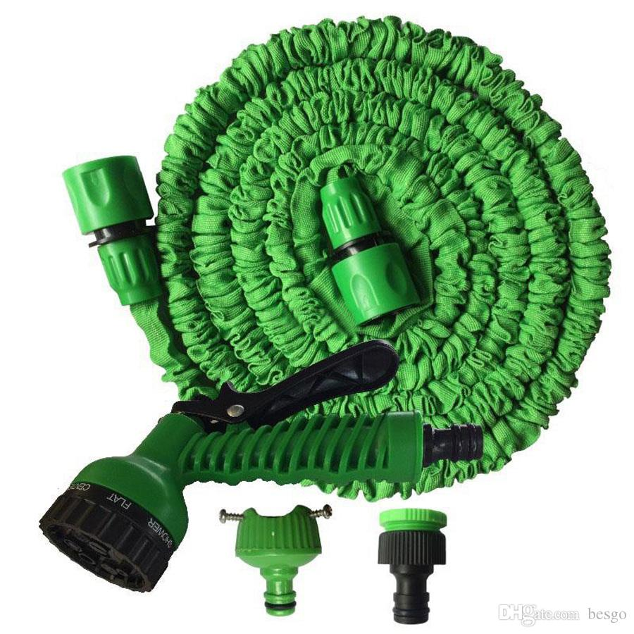 High Quality Retractable 50FT Water Hose Set With Multi-function Water Gun Easy Use House Garden Washing Expandable Hose Set DH0755-1 T03