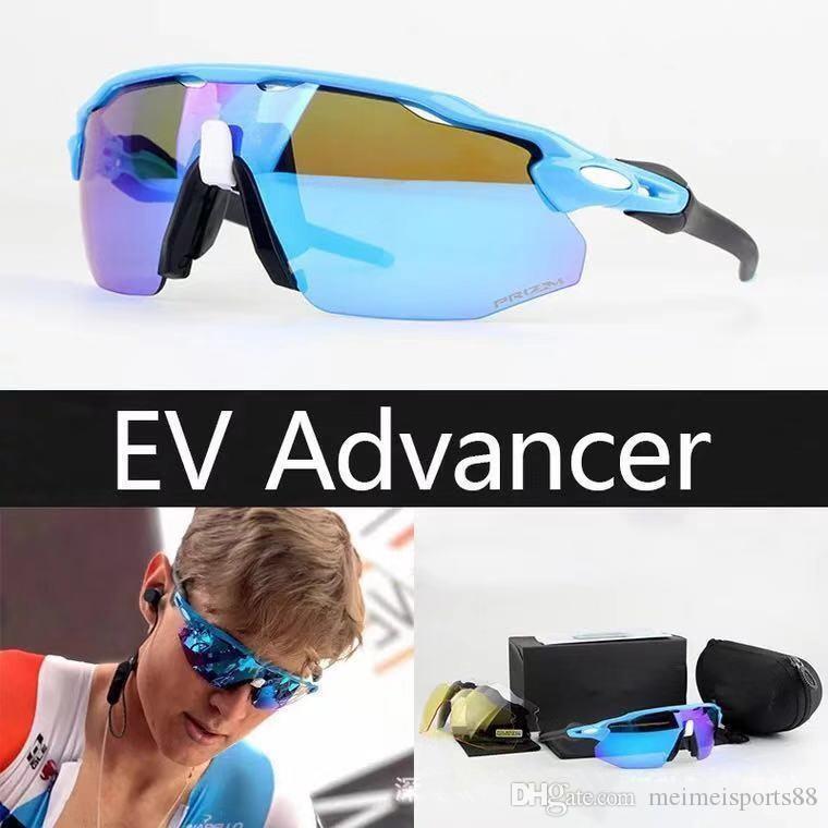 Новый радар EV Advancer OO9442 очки на открытом воздухе спортивные солнцезащитные очки для женщин мужчин модные солнцезащитные очки верхом очки Велоспорт очки 4 объектива