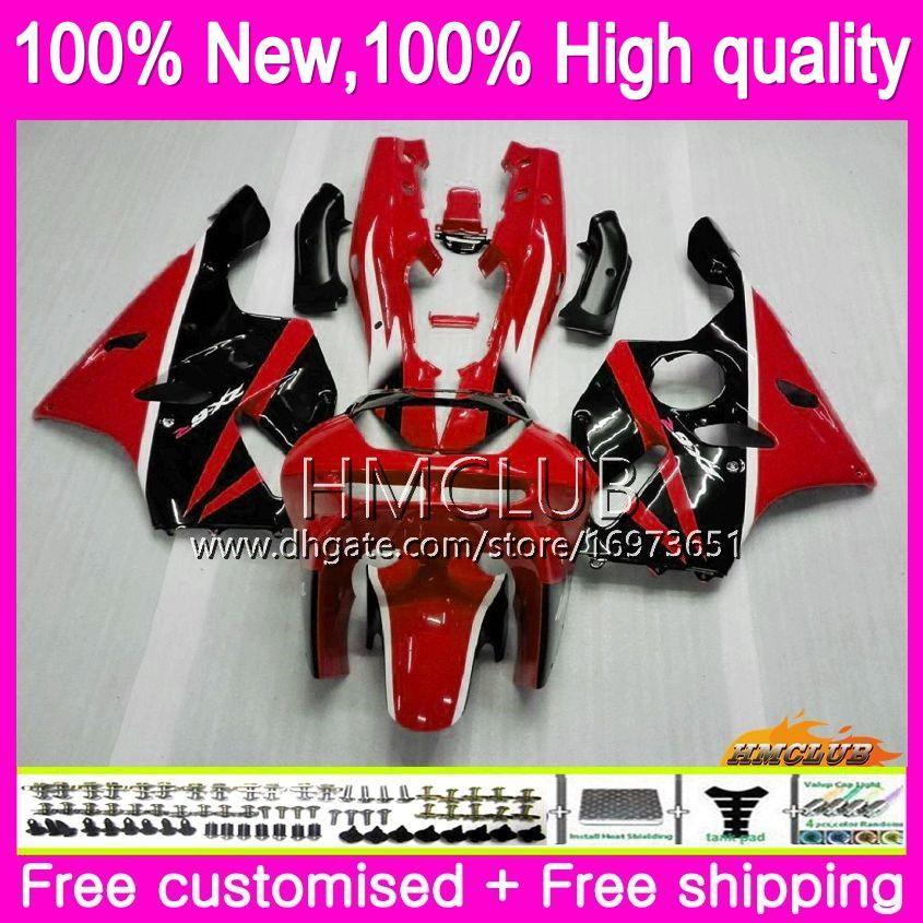 Corpo per Kawasaki ZX 636 600 CC 600cc ZX6R 94 95 96 97 61HM.17 ZX600 ZX636 ZX6R 94-97 ZX 6 R 6R 1994 1995 1996 1997 hot carenature black red