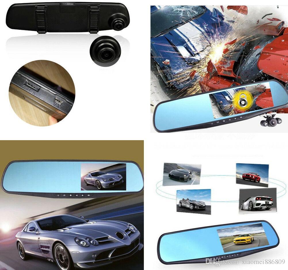"1080P Full HD 4.3"" Video Recorder Dash Cam Rearview Mirror Car Camera DVR"