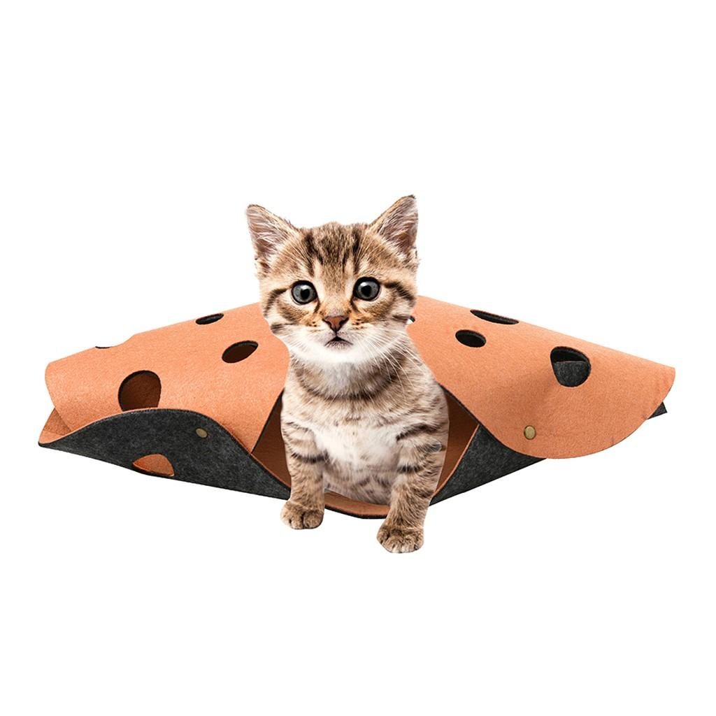 best selling 2019 products Cat Combination Tunnel Mat Stitching Folding Cat Play Channel Roll Toy 2Pcs support dropshipping