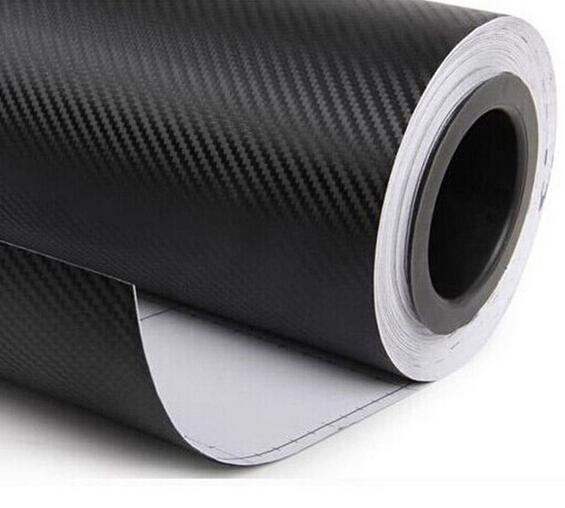 1.27x0.3m 블랙 탄소 섬유 비닐 필름 자동차 랩 스티커 시트 롤 인테리어 DIY의 검은 색 탄소 섬유 자동차 랩 액세서리 3D