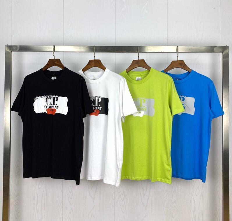 2020 новые дизайнерские модели C. p. company 2020 летние модели с логотипом, напечатанным на круглой шее с коротким рукавом футболки