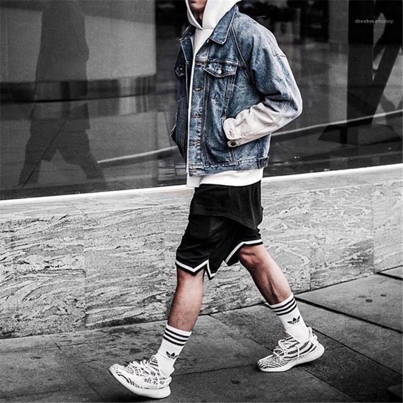 Сыпучие колен брюки Мужской одежды Mens конструктора Спортивные шорты Мода Relaxed Полосатый Сплошной цвет шорты Повседневный