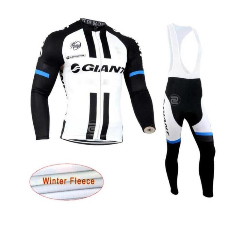 2019 NEW GIANT Team Radsport Winter-thermisches Vlies Jersey (bib) Hosen-Set Männer mit langen Ärmeln Fahrrad maillot roupa ciclismo lzdboss