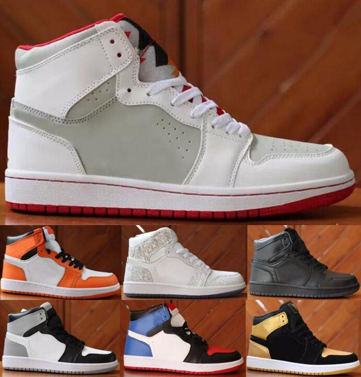 Mens 1 high OG basketball shoes 1s NRG banned chameleon shadow white black toe elephant print Chicago royal Track trainers Designer Sneakers