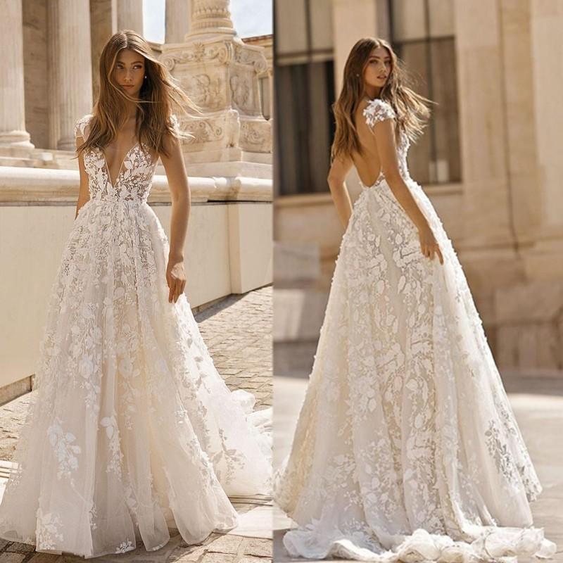 Betra a line braut kleid sexy brautkleid backless appliques plus größe braut kleider robes de mariée