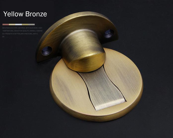 Magnética Topes 304 acero inoxidable tapón de la puerta Puerta Oculta Los titulares de captura de suelo sin clavo de Tope de puerta Herraje de muebles