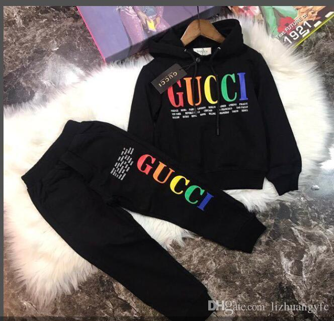 new Graffiti Baby Clothing Set Children's Clothing Autumn and Winter New Boys and Girls Sweater Set Children's Jacket Clothes h8
