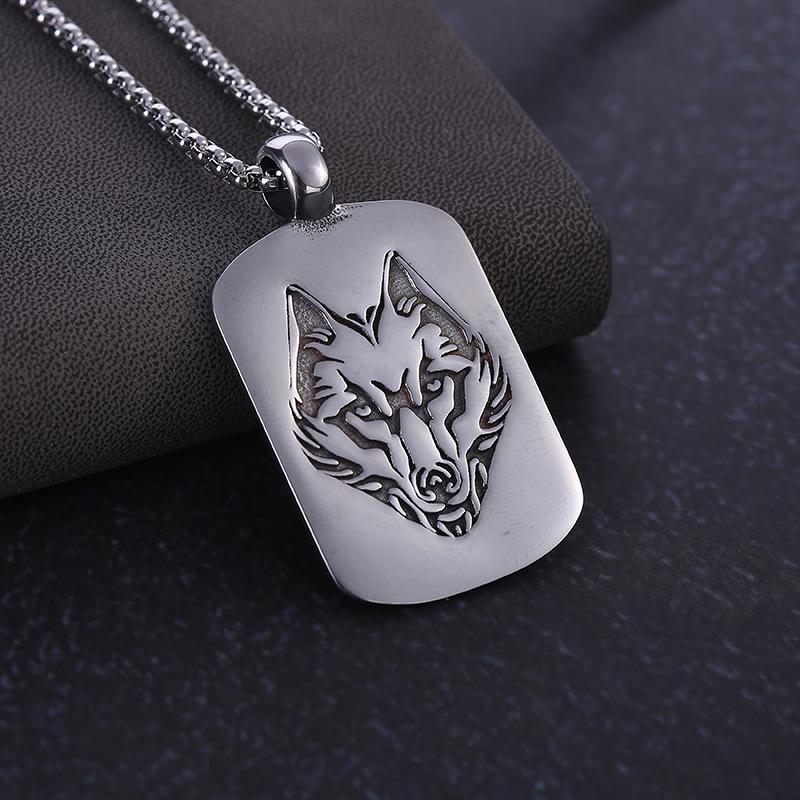 Onun Female Retro Kristal Kurt kolye 925 gümüş kolye Moda Triko Zinciri Mücevher El Yapımı Şanslı Muska Hediyeleri