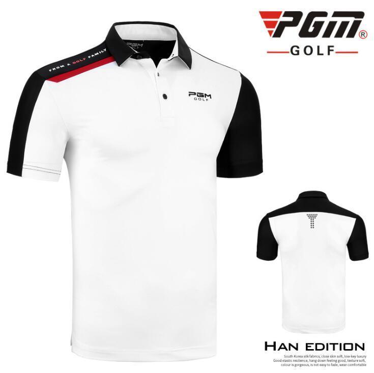 2020 Pgm Vêtements de golf d'été manches courtes pour hommes formation T-shirt Homme confortable Respirant Golf sport D0748