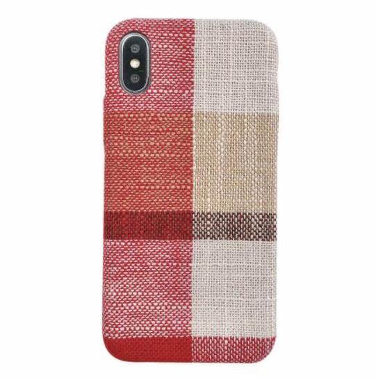 Для iPhone X XR XS MAX 6S 7 8 Plus льняных тканей Ручки чехол задней крышки Антишок Ручной Western Style Phone Case