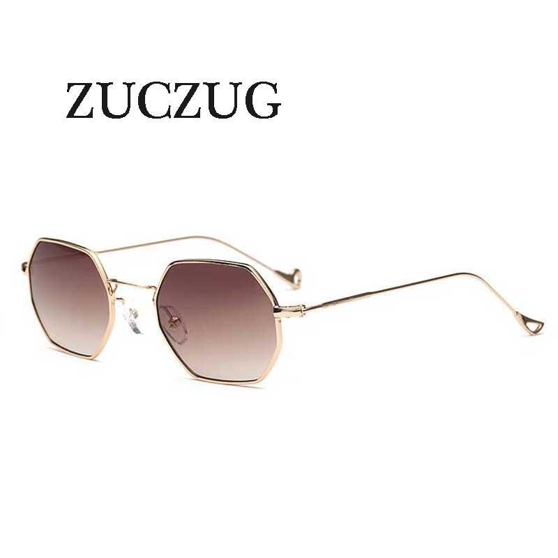 ZUCZUG Polygon sunglasses Hexagonal women men vintage Designer lens sunglasses hexagon metal frame Eyewear oculos