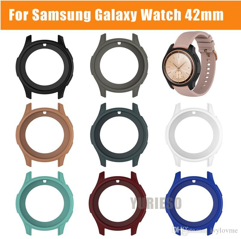 For Samsung Galaxy Watch 42mm High Quality Watch Cover Case Silicone Soft Shell Protective Frame Case Cover Skin