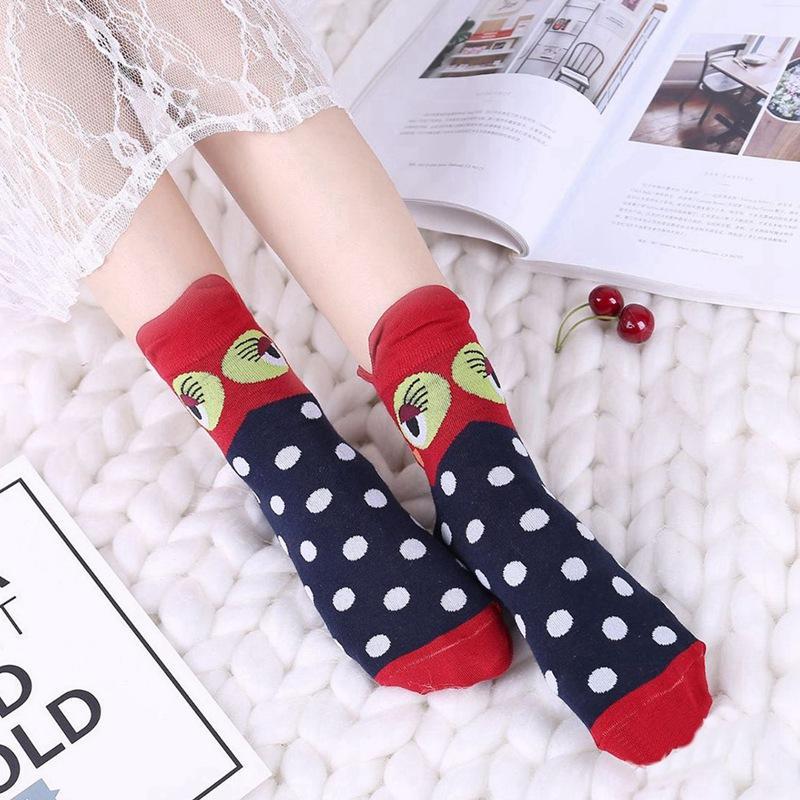 Симпатичные животные Хлопок Женщины носки мультфильм носки Мода Прекрасные Смешные партии Holidiay Носок Дамы Halloween Meias подарков Носок