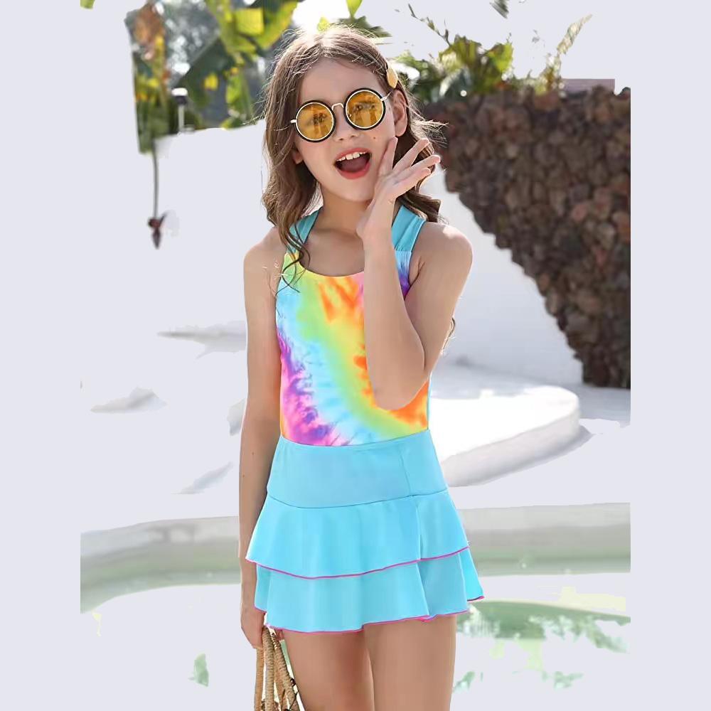 Mädchen Badeanzug mit kurzem oder Kleid mit gekreuztem Rücken Bademode Badeanzug für Mädchen 6-14 Jahre Badeanzug Near Me