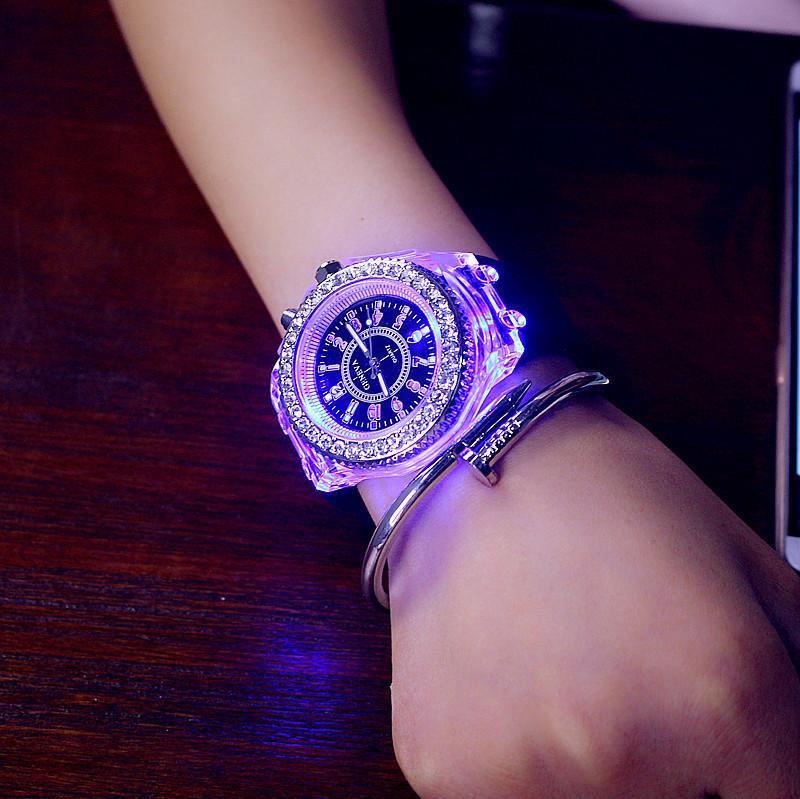 Heiße Verkauf Frauen Herren-Uhr Led Leuchten TOP Marke Luxus Einzigartige Lumineszente Female Clock reloj mujer Relogio Feminino Damenuhr Relogios