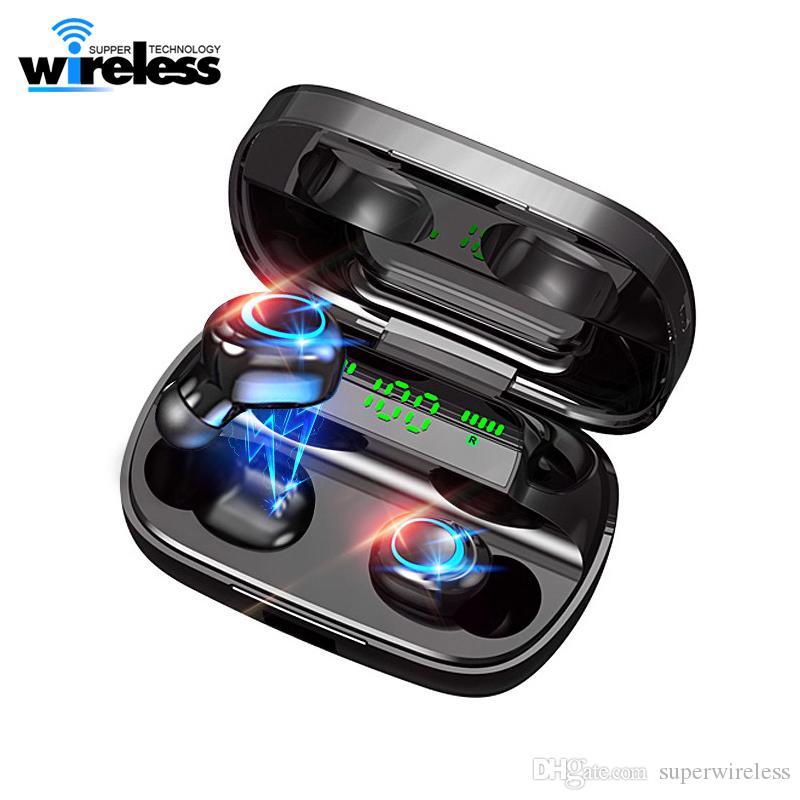 S11-A New Bluetooth tws sem fio 5.0 fone de ouvido 8D Wireless Stereo Earbuds Mini sem fio fone de ouvido fone de ouvido com Power Bank fone Headphone