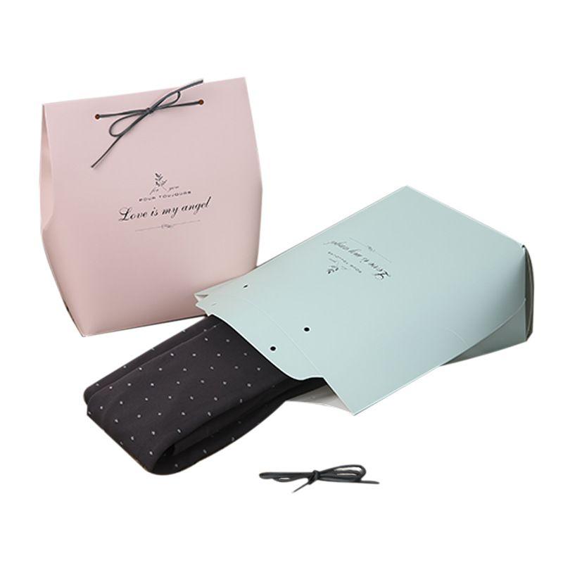 Розовые / Зеленые Бумажные Подарочные Пакеты Свадьба День Рождения Фавор Упаковочные Пакеты для Шарфа Перчатки Носки