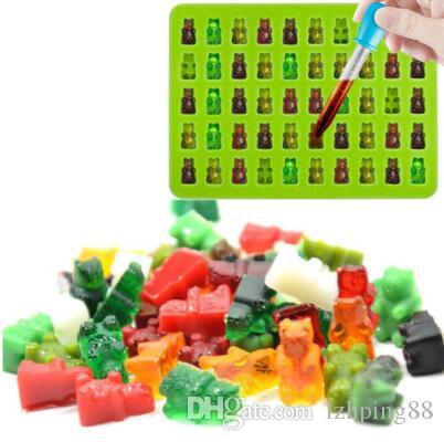 50 Cavity Silicone Gummy Bear Cake Mold Chocolate Mold Cookie Candy Ice Tray Jelly Moulds DIY Cake Tool Kitchen Accessories