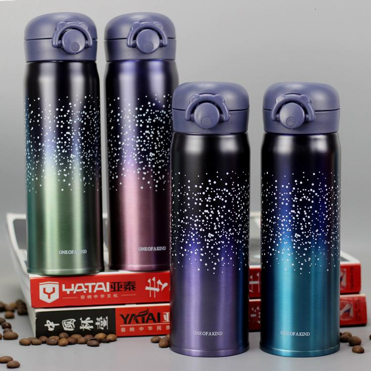 450ml Double Wall Stainless Steel Vacuum Flasks Student Bouncing Cup Outdoor Portable Thermos Bottle Insulated Tea Mug T191028