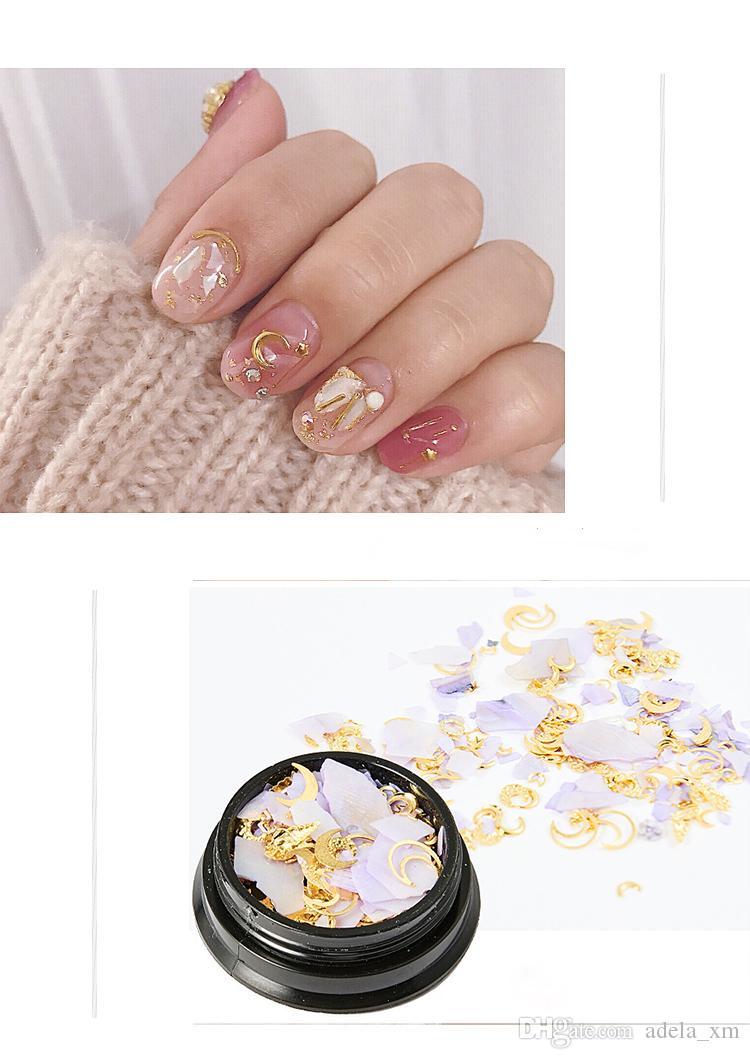 Hot 7 style Nail Art Mixed chargement parfait match parfait de toutes sortes de perle en métal et perceuse à ongles accessoires bricolage