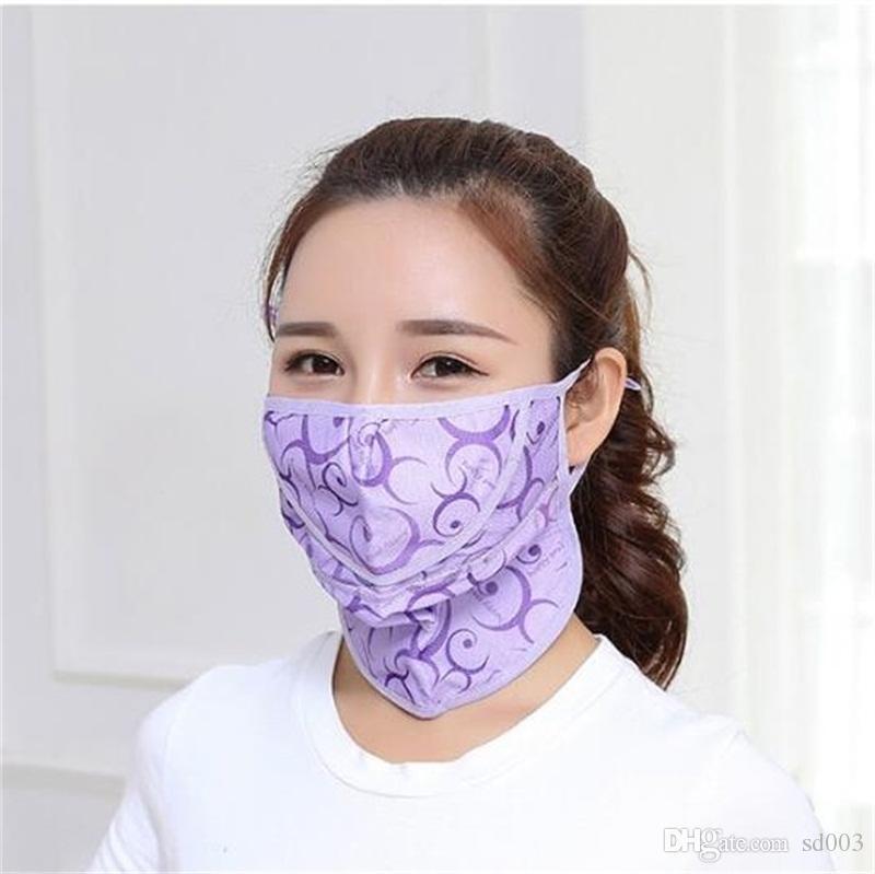 Earloop Neck Proteção Máscara Facial Protetor solar respiração bucal respirador Máscaras Impressão Ventilação dobrável 2 4gy UU