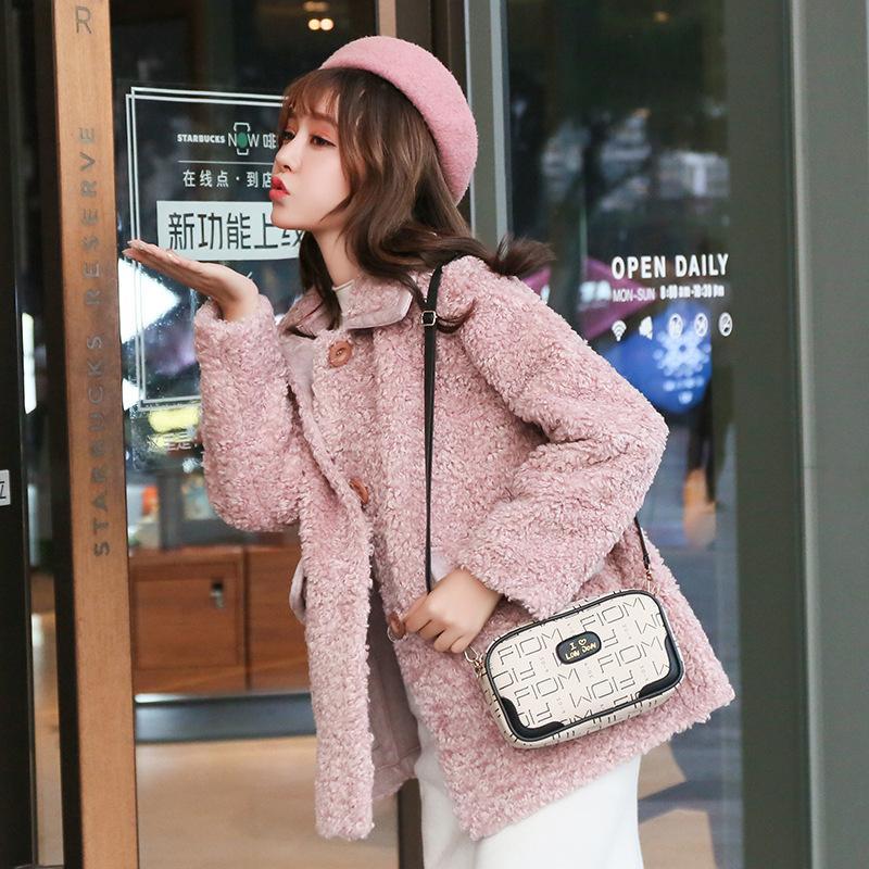 2020 nuova moda versione coreana della borsa del messaggero della spalla stampato borsa piccola piazza delle donne borsa fotografica
