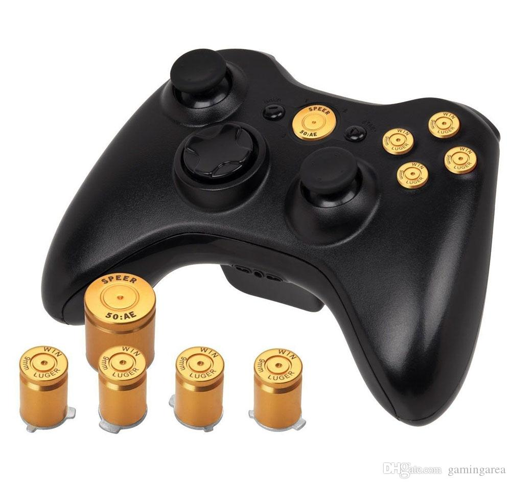 8 цветов алюминиевого сплава металла пуля кнопка 9 мм Люгер ABXY и Speer руководство кнопки набор для xbox 360 контроллер высокое качество быстрый корабль