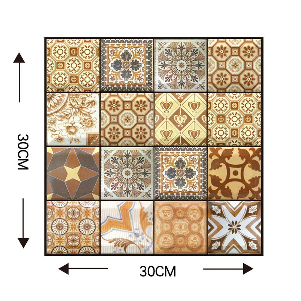 새로운 3D 입체 자체 접착 타일 스티커 30X30cm 6 패턴 충돌 스티커 PVC 벽 스티커 홈 DIY 장식