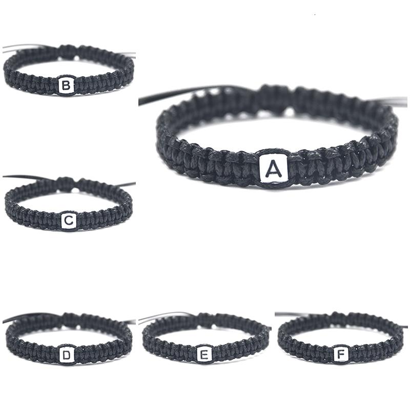 Capital A à M Nom Lettres Charm Bracelets corde chaîne Ajuster la taille For Lovers Meilleurs amis membres de la famille perlée djust braises morceaux Noosa