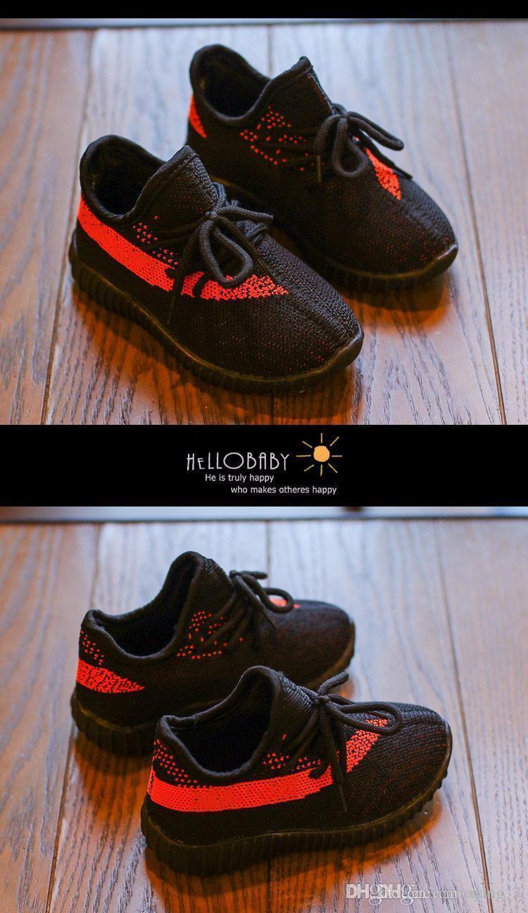 2019 niños de diseño zapatillas de deporte de niño del bebé Formadores Run zapatos infantiles para niños de las muchachas de Chaussures Pour Enfants 22--35