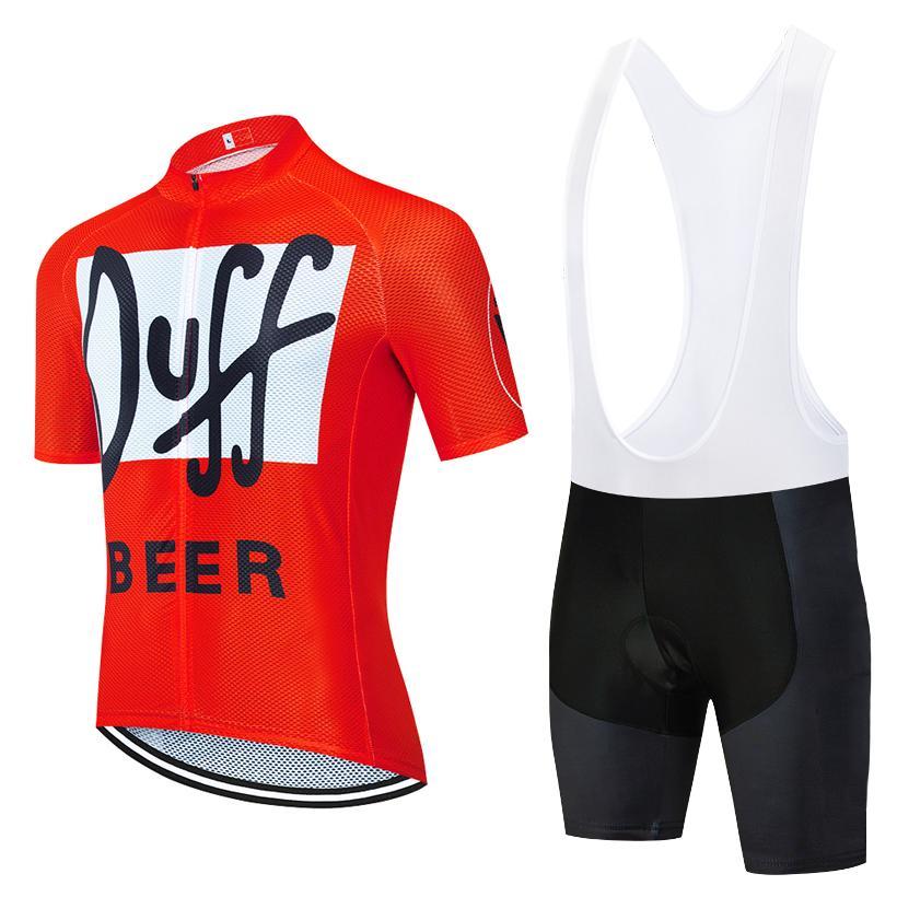 2020 برو TEAM داف البيرة ركوب الدراجات جيرسي تعيين رجل / إمرأة الصيف دراجة تنفس الملابس MTB دراجة جيرسي مريلة السراويل عدة ملابس Ciclismo