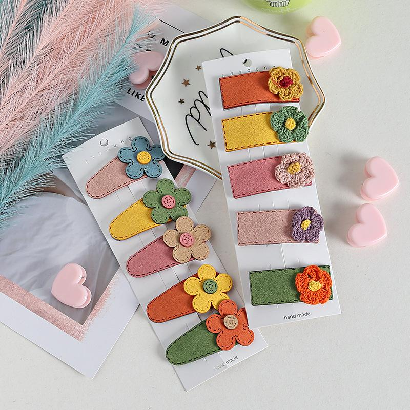 5Pcs/Set Cartoon Headwear Children Girls Hairgrips Clips Princess Barrettes Rabbit Carrot Animal Fruit Hairpin Hair Accessories