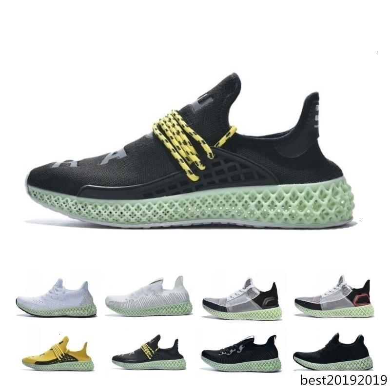 Sconti Pharrell Williams Futurecraft 4d Triple Black Men Bianco Esecuzione Shos Alphaedge 4d donne progettista scarpe da tennis Mens Trainers Big 38-47