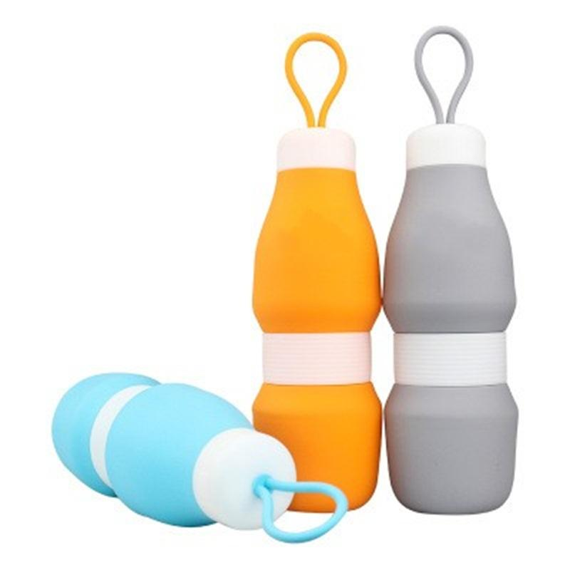 Wholesale Silicone Folding High Capacity Sports Collapsible Water Bottle Portable Soft Kettle Outdoors Hiking Man And Women 15 8hfH1