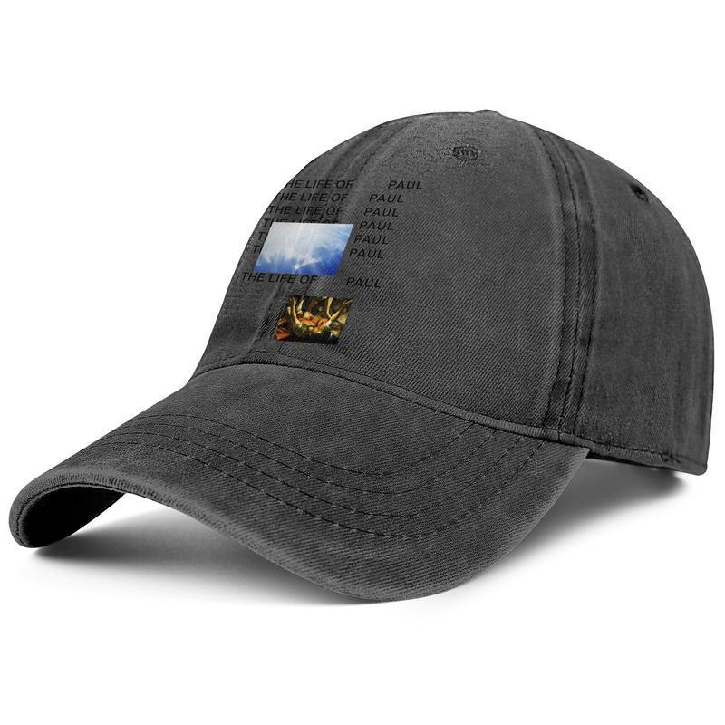 Kanye West La vita di Pablo Tour per gli uomini e le donne di baseball denim disegno della protezione misura su ordinazione personaliseddesign il proprio cappelli di moda ye