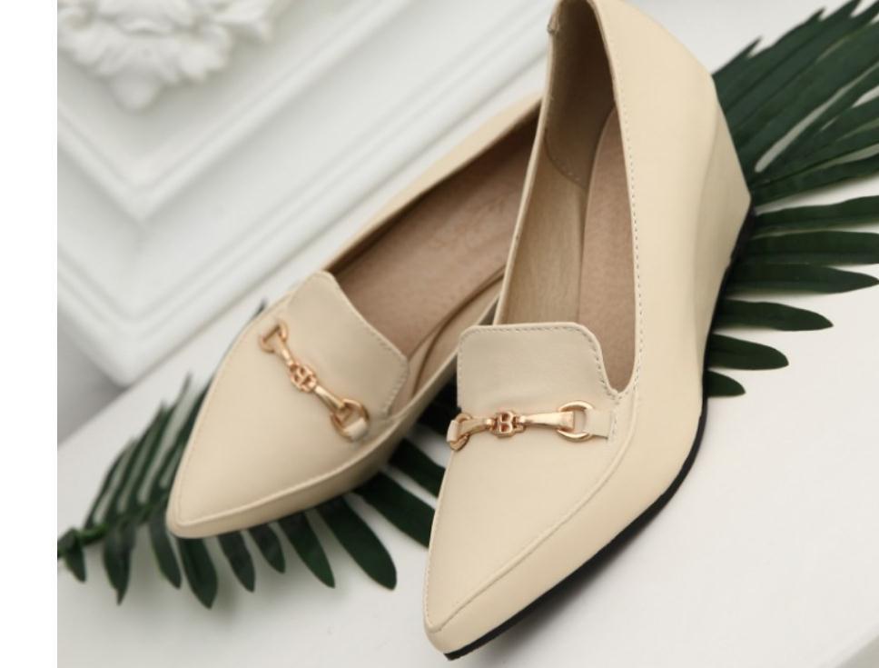 2020 весной и осенью с обувью Новый стиль моды Slope пятки заостренный конец женщин в @ MQWBH775
