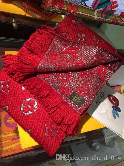 Vendita calda sciarpa per le donne di disegno di marca womans lungo scialle di lana di alta qualitá Cashmere Sciarpe per la donna senza scatola t02
