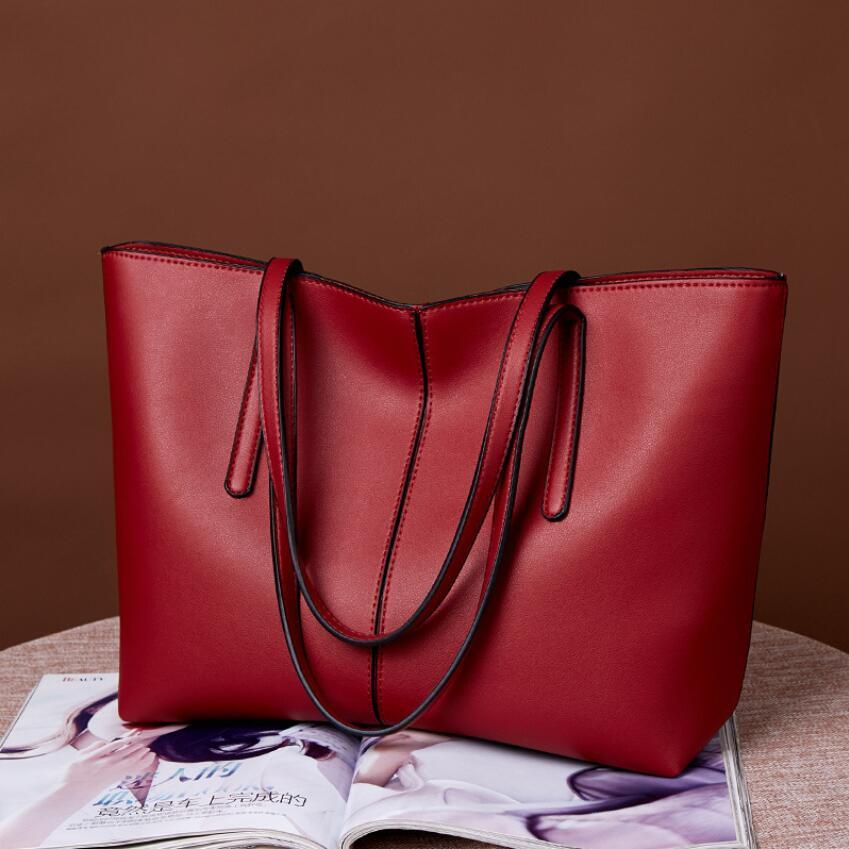 Büyük Kapasiteli Çantalar Çanta Bayanlar Dükkanı Stiller Omuz Tote Pu yönlü Tasarımcı Çanta Yeni Çanta Moda Basit