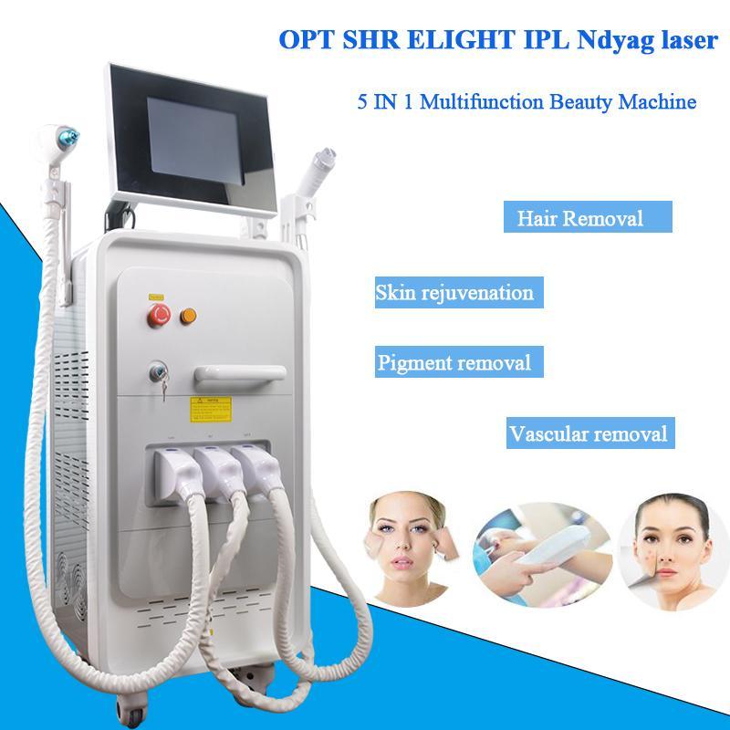multifuncional E-Luz máquina de remoção de cabelo diodo laser equipado manual do rejuvenescimento da pele depilação 5 filtros ipl aprovado