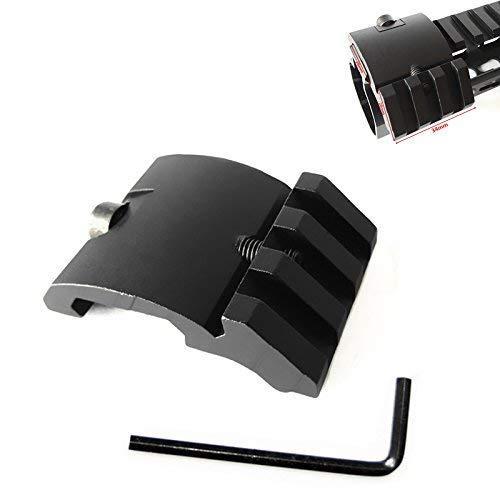 2020 Ultra Low Profile Décalage de rail Picatinny 45 degrés 20 mm côté noir pour Scope, Mangifiers, Lampes de poche