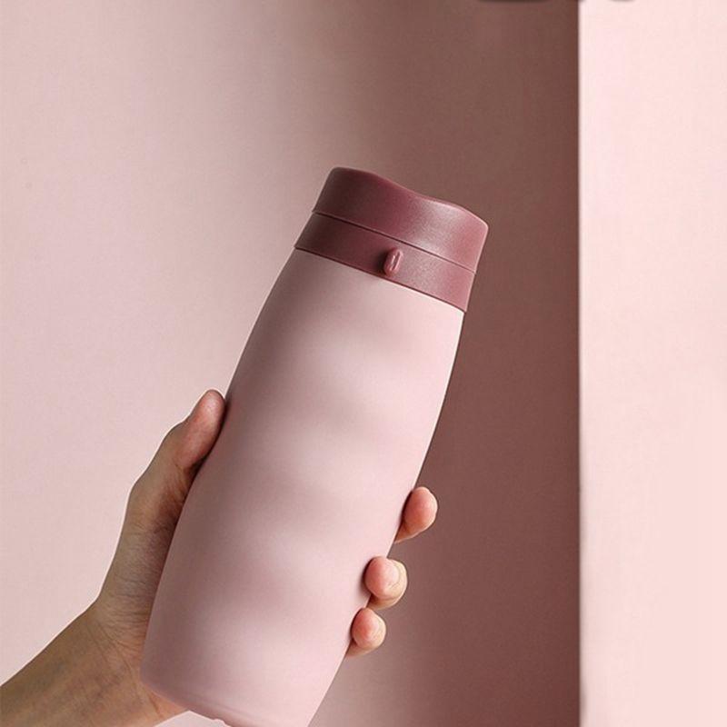 1 PC Tragbare Sport-Wasserflasche bewegliche kreative Silikagel-Folding Cup im Freien Spielraum Folding Cup 600ML Andere Geschirr