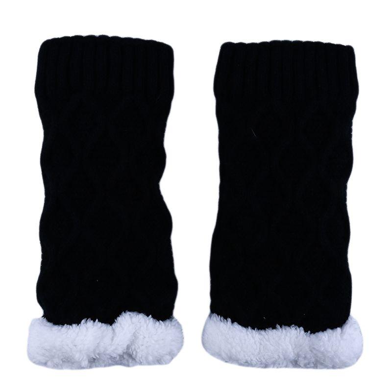 Outono Inverno Moda Mulheres Knit Leg Warmer Curto Bota punhos de malha Polainas inverno joelho quente Socks aquecedores do pé mulheres