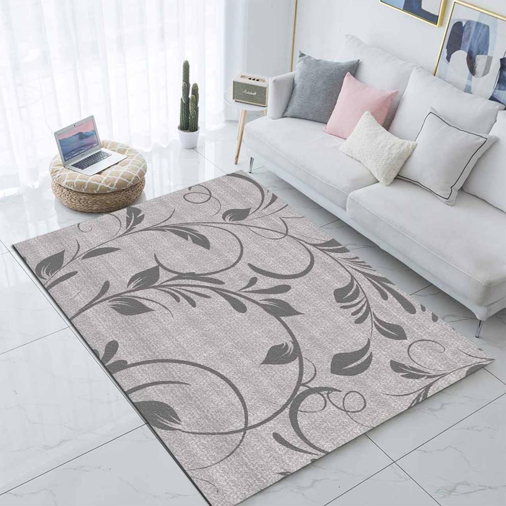 Еще коричневый серый цветочные листья цветы 3d печати нескользящей микрофибры гостиной современный ковер моющийся коврик Коврик