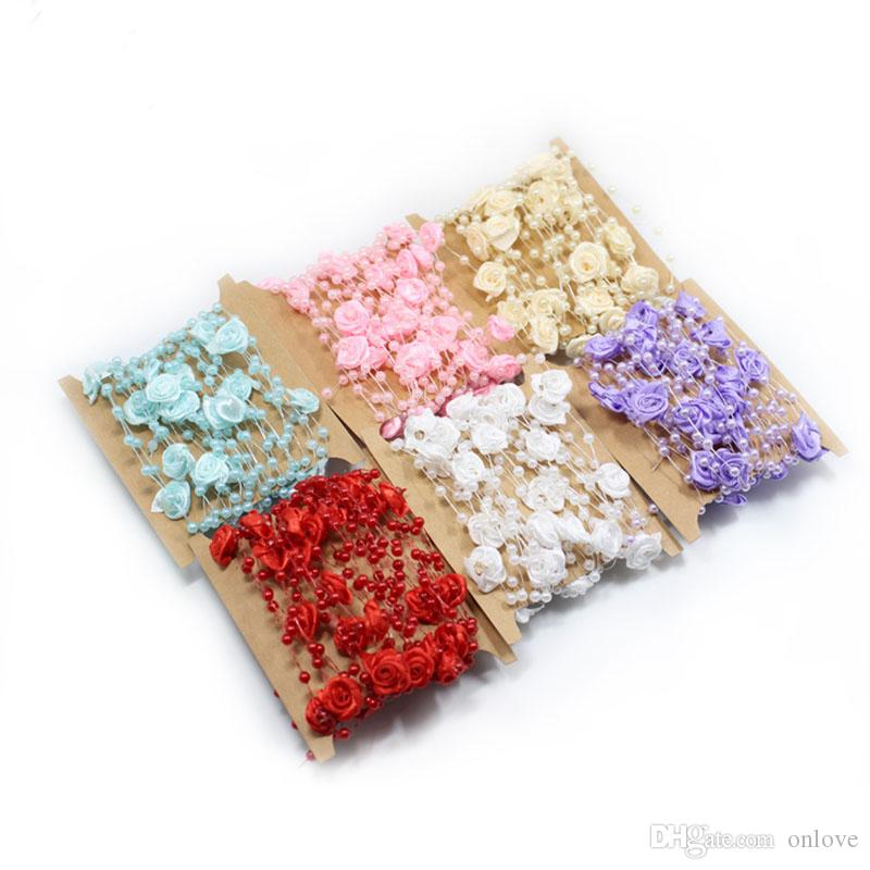 One pack of Single Pearl Pips Embellishments Floral Wreath Wedding Home Decor
