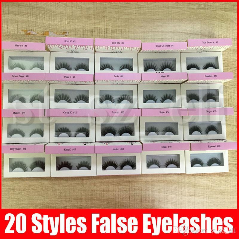 False Eyelashes Handmade Natural Long Thick Eyelashes Soft Fake Eye Lash extensions Black Terrier 20 styles makeup